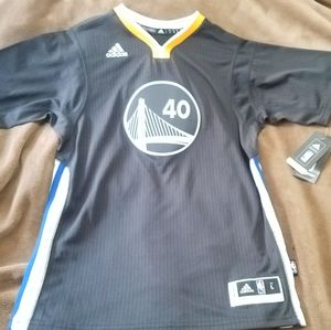 Youth Large Adidas GS Warriors Slate Jersey